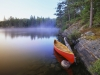 Canoe on Pinetree Lake, Algonquin Provincial Park/Canot sur le lac Pinetree, parc provincial Algonquin, Ontario