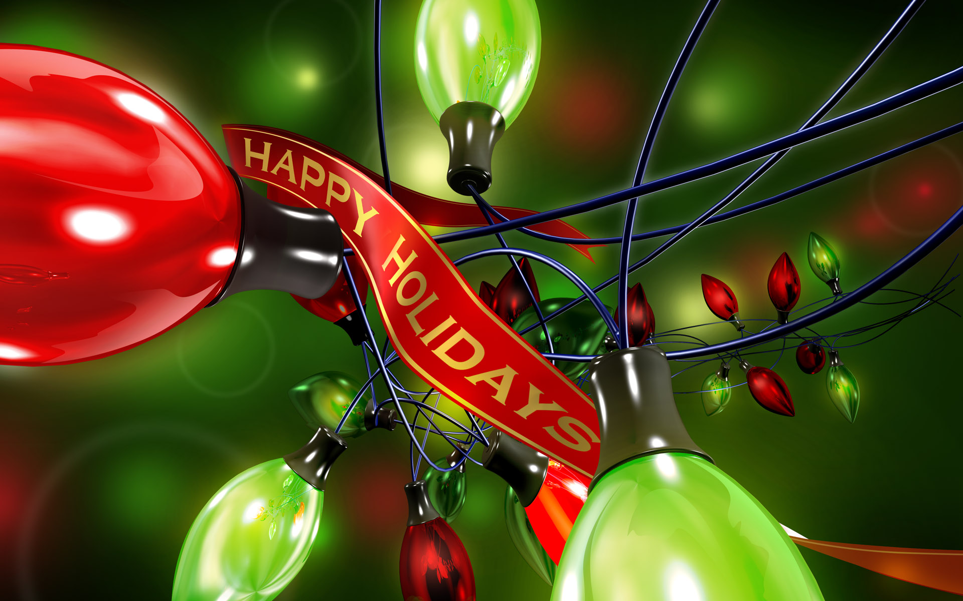 Happy holidays wallpaper 108196 for Screensaver natale 3d