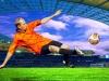 Football players shoot on field of olimpic stadium