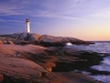 Peggys Point Lighthouse, Peggys Cove/ Phare de Peggy's Point, Peggy's Cove, Nova Scotia/Nouvelle-Écosse