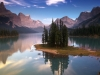 Spirit Island on Maligne Lake, Jasper National Park/Spirit Island sur le lac Maligne, parc national Jasper, Alberta